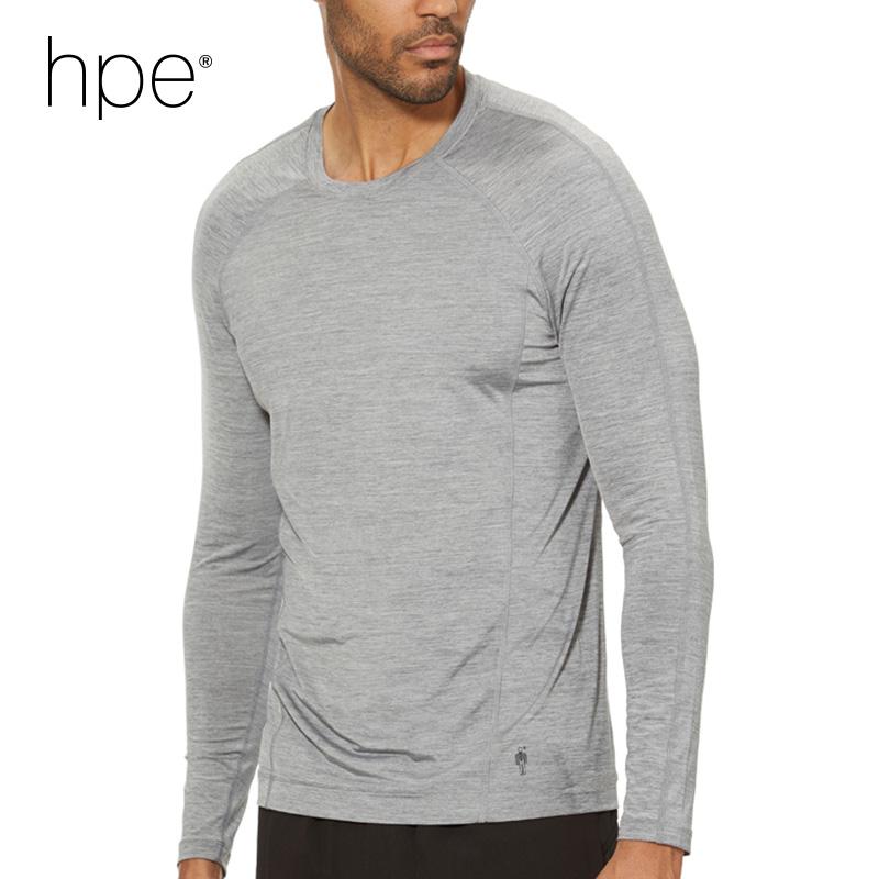 (남성)엑스티 에어 아이스 런 티셔츠 롱 슬리브_HPB1TLS53_GY