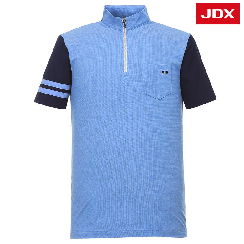 (남성)소매배색 자카드 하프넥 티셔츠_X2PMTSM04-SK