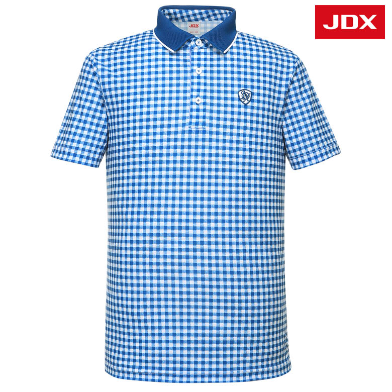 (남성)체크패턴 요꼬에리 티셔츠_X2PMTSM08-JA