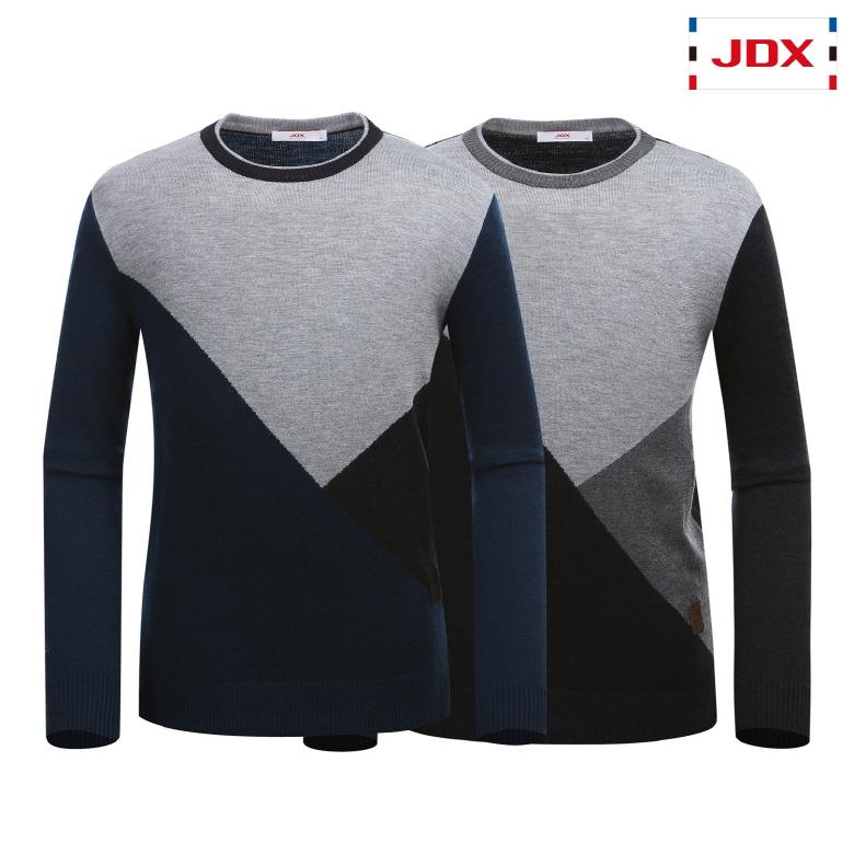 (남성)캐시미어 블랜딩 컬러 블럭 인타샤 스웨터_X2PWSPM01