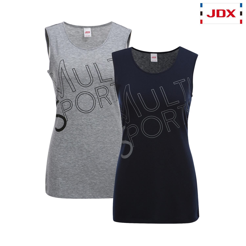 (여성)긴기장 레터링프린트 슬리브리스 티셔츠_X3PMTSW61