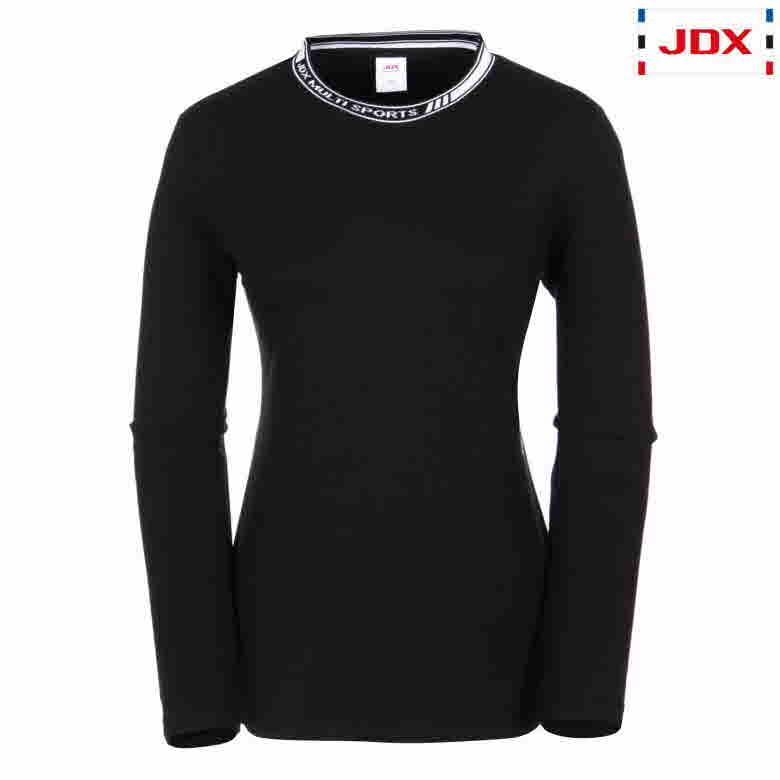 (여성)립 레터링 라운드 티셔츠_X3PWTLW51-BK