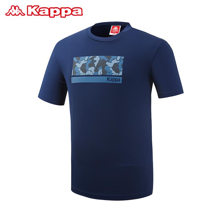 (남성)카모플라주 포인트 쿨 티셔츠_KJRS242MN_NVY