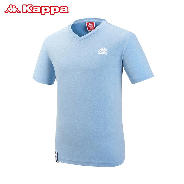 (공용)브이넥 기본 면 티셔츠_KJRS266MN_MBL