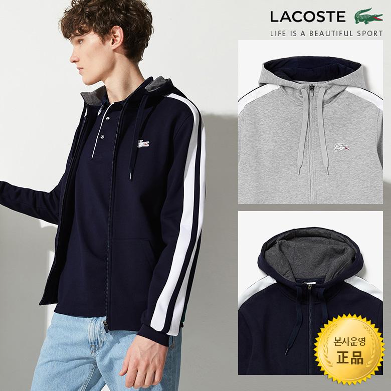 (남성)라코스테 스포츠 후드 집업 스웨트 셔츠_SH7422-19A