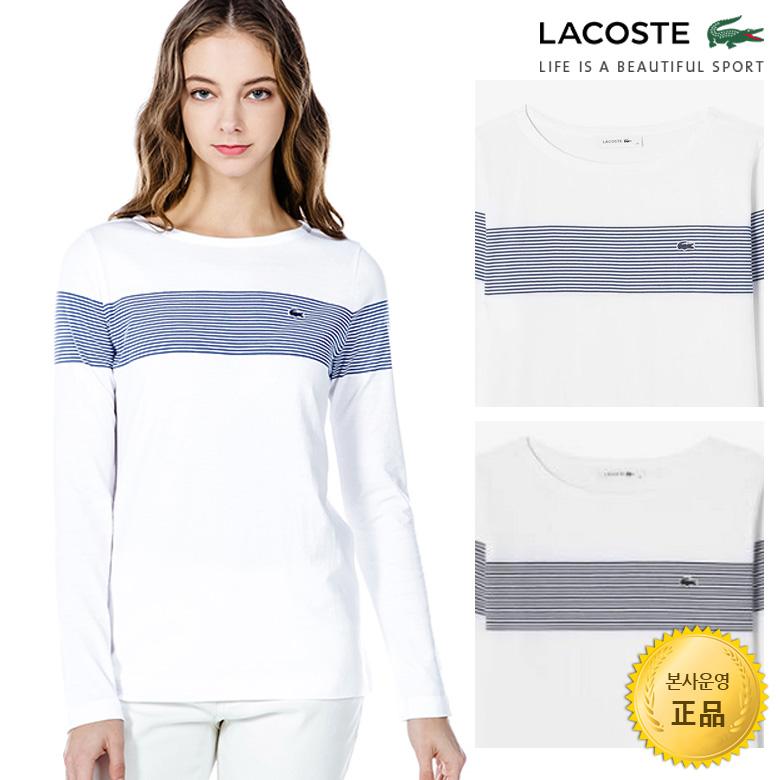 (여성)긴팔 스트라이프 슬림핏 티셔츠_TF309E-19A