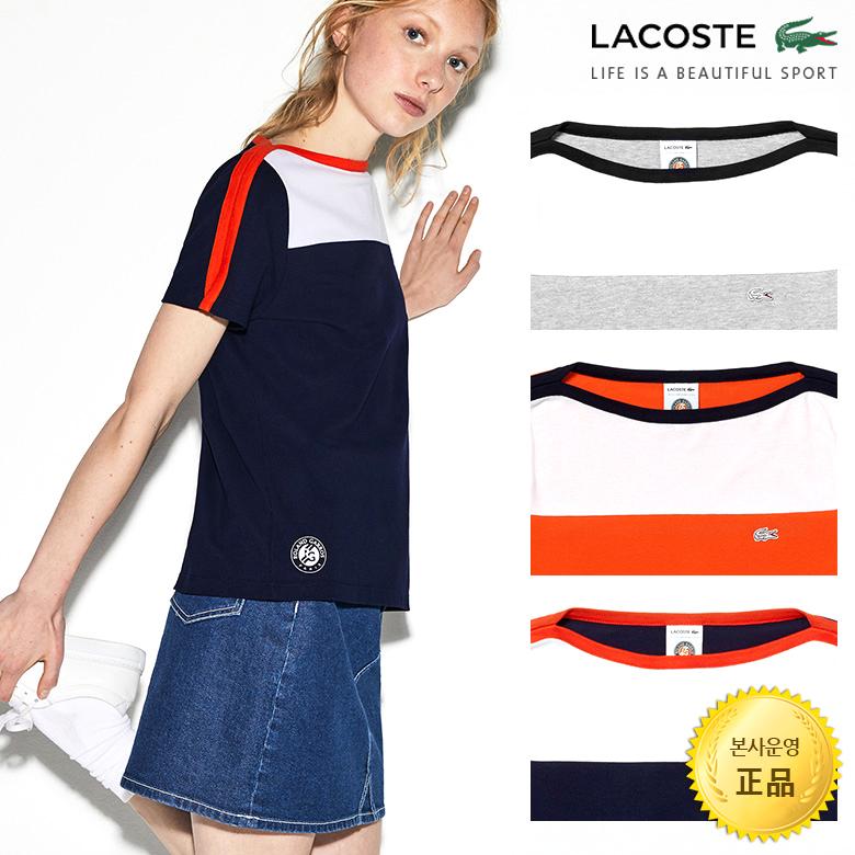 (여성)라코스테 스포츠 French Open 에디션 코튼 티셔츠_TF4584-19B