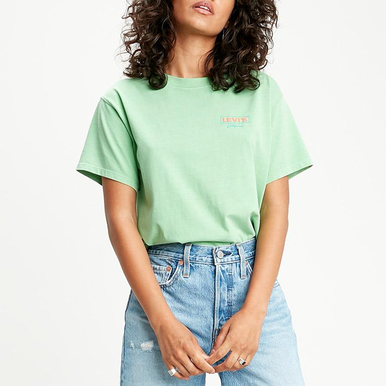 여성 그래픽 바시티 티셔츠_69973-0078