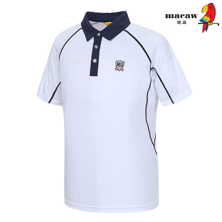 (남성)심플라인 카라 반팔 티셔츠_MIM2TS08