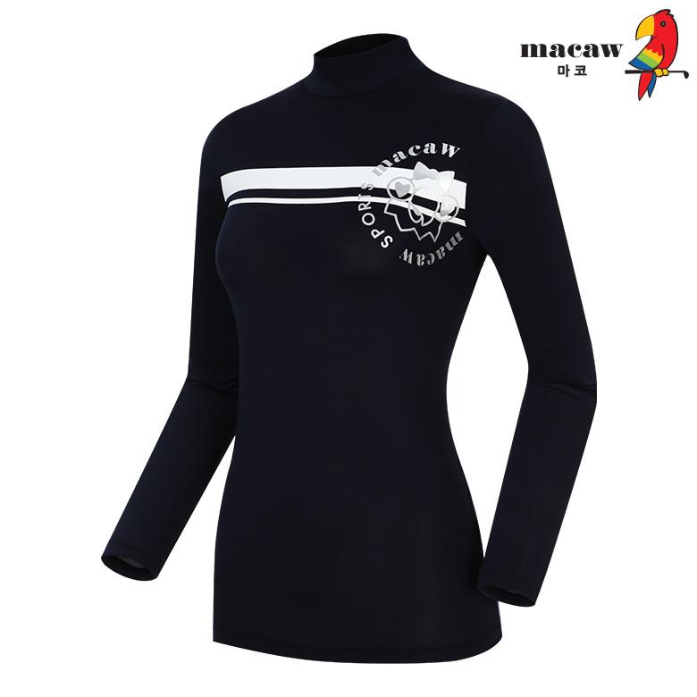 (여성)가로 블록 반목 베이스레이어 티셔츠_MIW2TB60