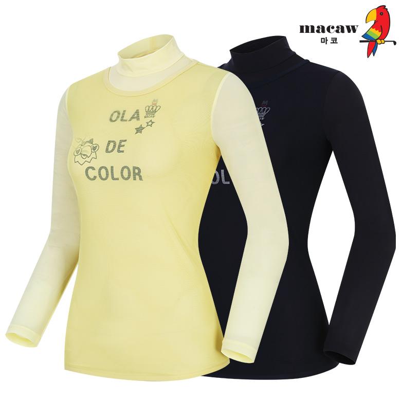 (여성)매쉬 베이스레이어 반목 티셔츠_MIW2TB61