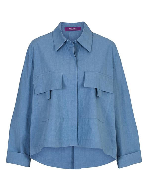 빅포켓 셔츠 블라우스_MJF1BL5010