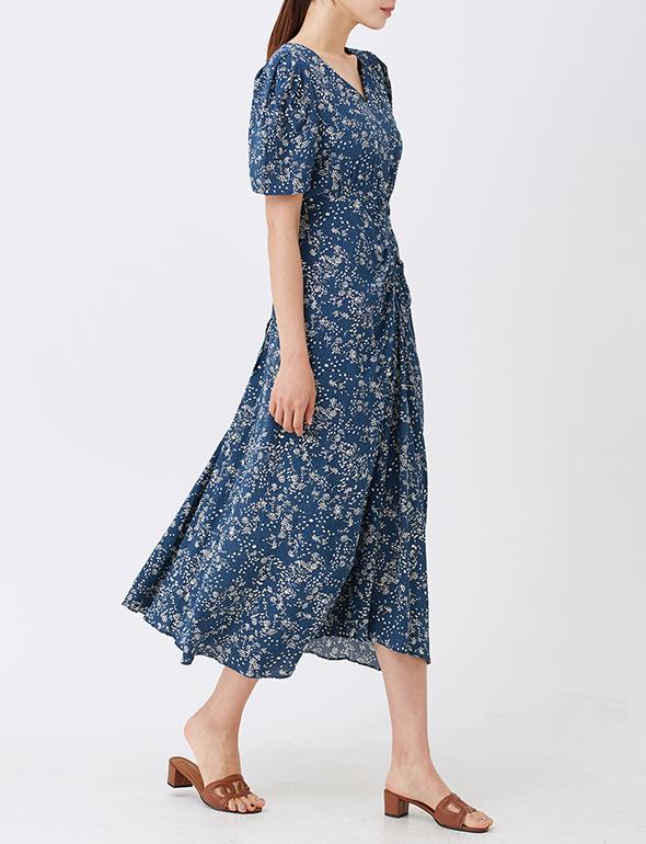 플로럴 셔링 드레스_MJM1OP3330