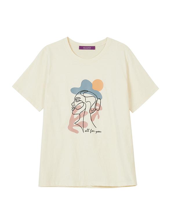 드로잉 티셔츠_MJM1TS6630