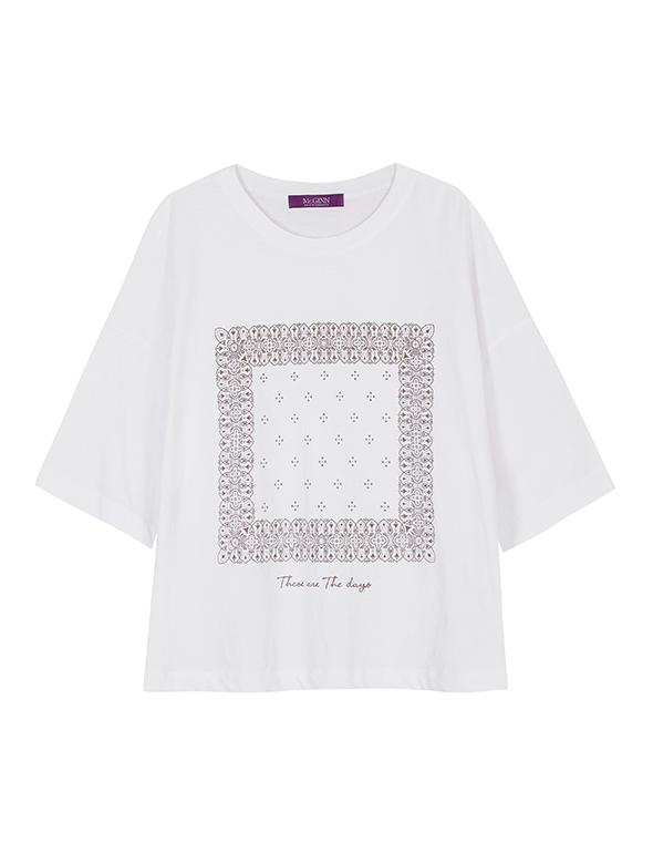페이즐리 티셔츠_MJM1TS6660
