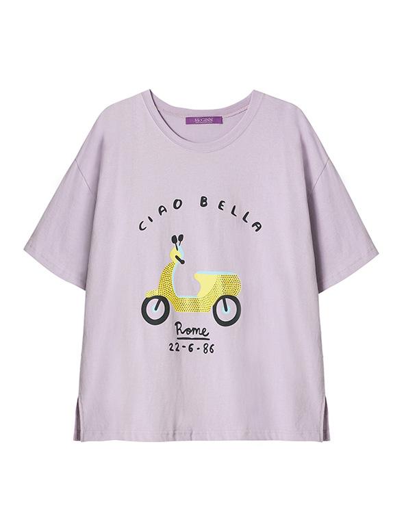 프린팅 큐빅 티셔츠_MJS1TS6560