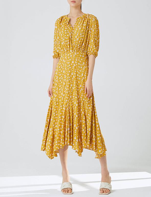 플로럴 셔링 드레스_MKM1OP3000